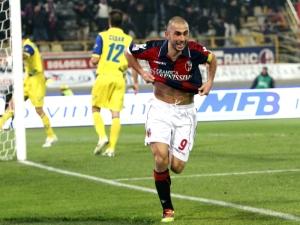 Di Vaio has eleven league goals so far for Bologna